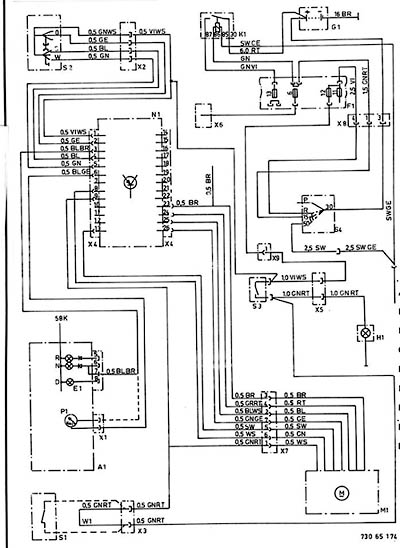 65 71 ... - wiring diagram for electronic cruise control < 65 ... bmw 745i wiring diagram 2007 bmw 750li fuse diagram repair.bmw-e23.com